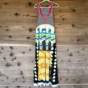 Truly Me Girls Vibrant Halter Maxi Dress Sz 14